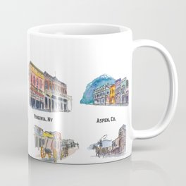USA Wild West Towns Main Streets - Telluride, Breckenridge, Aspen & Co. Coffee Mug