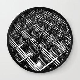 Rebar On Rebar - Industrial Abstract Wall Clock