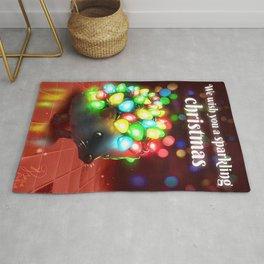 Christmas lights hedgehog Rug