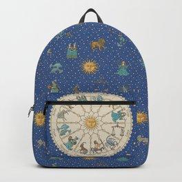 Vintage Astrology Zodiac Wheel Backpack