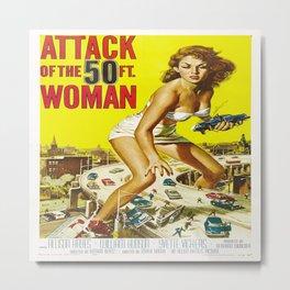 50 Foot Woman Attacks Metal Print