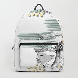 Abstract Boho Line Art Backpack