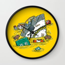 Safety Third Shark Wall Clock