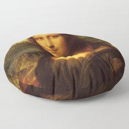 Leonardo Da Vinci Mona Lisa Painting Floor Pillow
