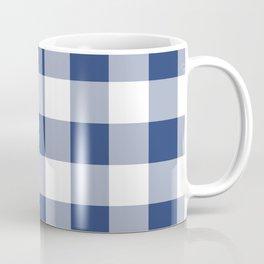 Navy Gingham Pattern Coffee Mug