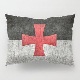 Knights Templar Flag in Super Grunge Pillow Sham