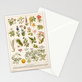 Adolphe Millot - Plantes vénéneuses - French vintage botanical illustration Stationery Cards