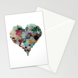 Love - Original Sea Glass Heart Stationery Cards