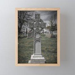 Laurel Hill Cemetery Cross Grave Marker Gravestone Monument Celtic Framed Mini Art Print