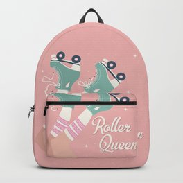 Roller skates girl 02 Backpack