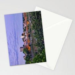Braganca, Portugal at dusk Stationery Cards