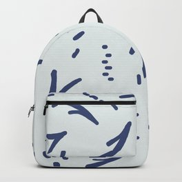 Blue Vee on Blue Backpack