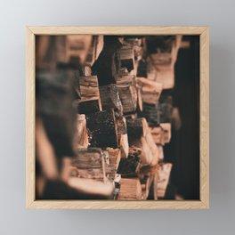 Woodpile Framed Mini Art Print