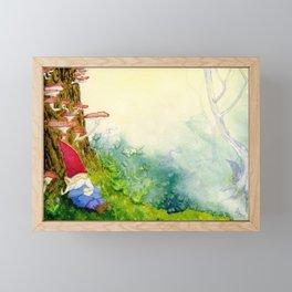 The Sleeping Gnome Framed Mini Art Print