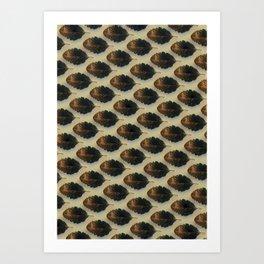 Abstract Leaf Pattern Art Design Art Print
