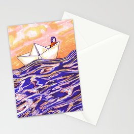 Paper ship Stationery Cards