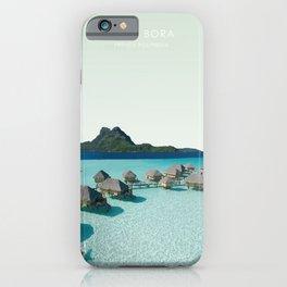Bora Bora, French Polynesia Travel Artwork iPhone Case