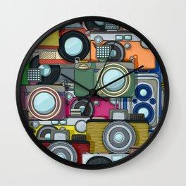 Vintage camera pattern Wall Clock