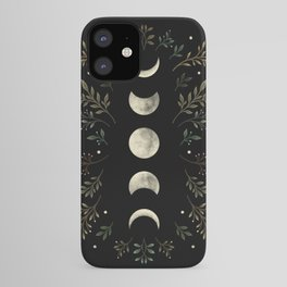 Moonlight Garden - Olive Green iPhone Case