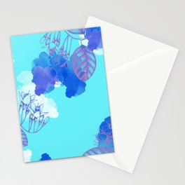 Botanical 3 - Exotic Floral Layered Abstract Art Stationery Cards