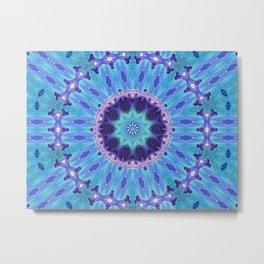 Lily Kaleidoscope Mandala A263 Metal Print