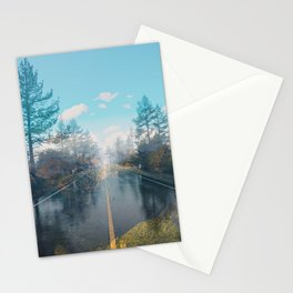 Abstract landscape road Colorful Stationery Cards