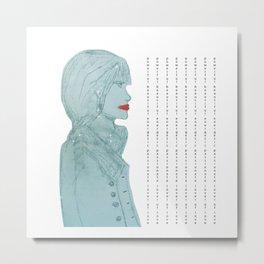 Woman Girl power Sketch painting Metal Print