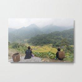 Sa Pa Landscapes I - Vietnam Metal Print