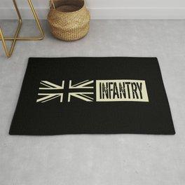 British Military: Infantry (Black Flag) Rug