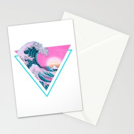 Vaporwave Aesthetic 90's Great Wave Off Kanagawa Stationery Cards