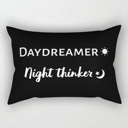 Daydreamer and Night Thinker Rectangular Pillow