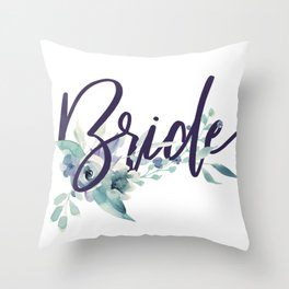 Bride Watercolour Throw Pillow