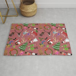 The Elements of Christmas (Pattern) (Red) Rug