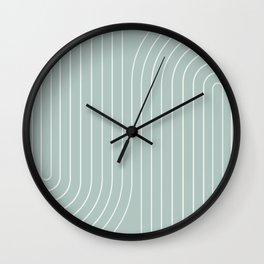 Minimal Line Curvature VII Wall Clock