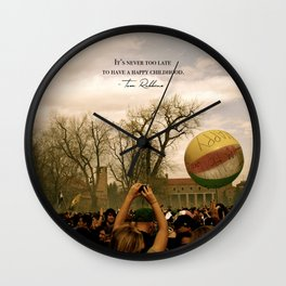 Have a Happy Childhood Wall Clock