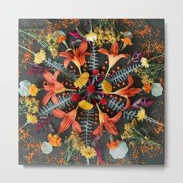 Nature Mandala: July Metal Print