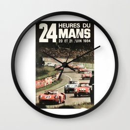 Le Mans 1964, Le Mans poster, Le Mans t shirt, Race poster, Wall Clock