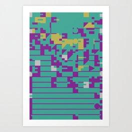 Abstract 8 Bit Art Art Print
