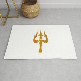 Trident of Shiva- Trishul, sacred symbols of Shaivism- Happy Maha Shivratri Rug