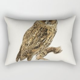 Asio otus owl illustrated by the von Wright brothers Rectangular Pillow
