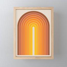 Gradient Arch - Vintage Orange Framed Mini Art Print