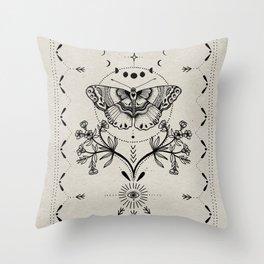 Magical Moth Throw Pillow