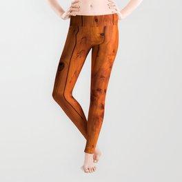 Vintage Wooden Boards Effect. Leggings