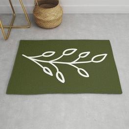Feeling of lightness - Pine needle green Rug