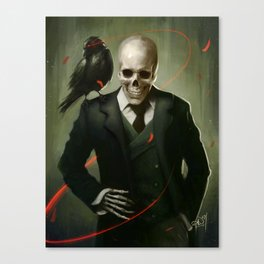 Skully Gentleman Canvas Print