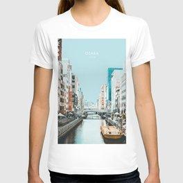 Osaka, Japan Travel Artwork T-shirt