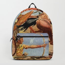 """Classical Masterpiece """"Egyptian King Tut on Chariot"""" by Herbert Herget Backpack"""