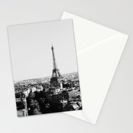 Paris City Sky // Eiffel Tower City Landscape Photography Shot from the top of Champs Elysees France Stationery Cards