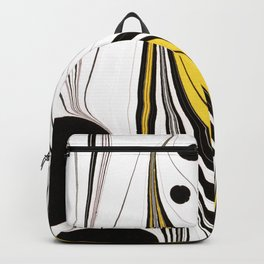 Marbled Black Pink Yellow Backpack