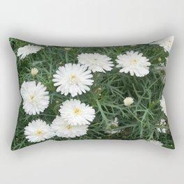 Avis White Bunch of Flowers Rectangular Pillow